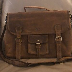 Real leather laptop messenger bag HLC